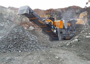 Tesab 800i Tracked 'Hard Rock' Jaw Crusher